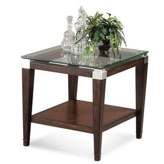 Contemporary Cappucinno finish Dunhill Rectangle End Table