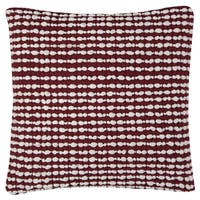 Rizzy Home Textured Stripe Red and White Cotton 20-inch Square Throw Pillow