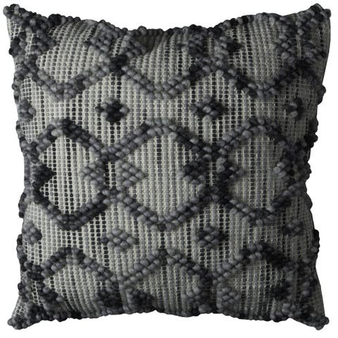 Rizzy Home Diamond Pattern / Canvas Back 20-inch Throw Pillow