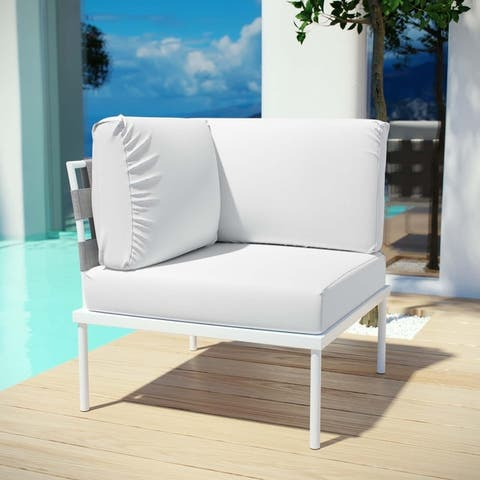 Harmony Outdoor Patio Aluminum Corner Sofa