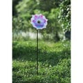 Sunjoy Glass Multi Color Flower Garden Stake, 43 Inches