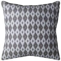Rizzy Home Ivory Cotton Diamond Throw Pillow