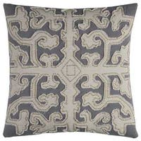 Rizzy Home Cotton 20-inch x 20-inch Scrollwork Decorative Filled Throw Pillow