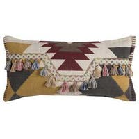 Rizzy Home Cotton Canvas 11-inch x 21-inch Southwestern-motif Decorative Filled Throw Pillow