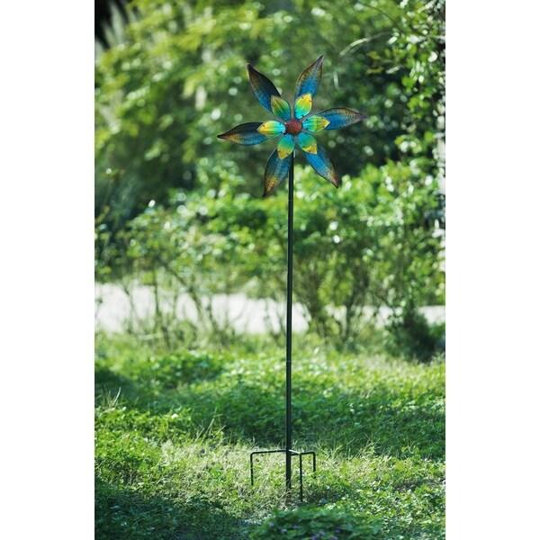 sunjoy multi color metal garden stake 69 inches - Metal Garden Stakes