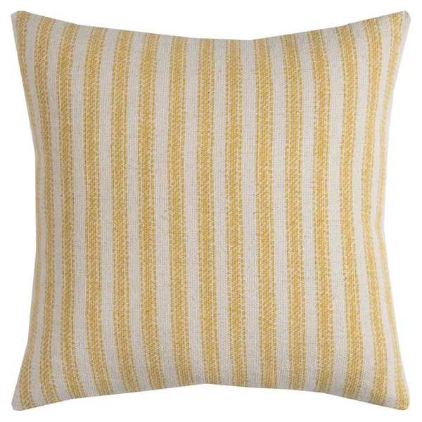 Rizzy Home Multicolored Cotton Ticking Stripe Square Decorative Throw Pillow