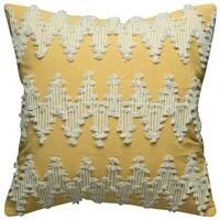Rizzy Home Frayed Chevron Cotton 20-inch x 20-inch Decorative Filled Throw Pillow