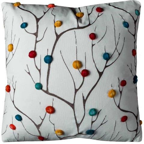 Rizzy Home Abstract Dementional Tree Cotton 20-inch x 20-inch Decorative Filled Throw Pillow