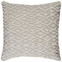 Rizzy Home Cotton Textured Decorative Filled Throw Pillow