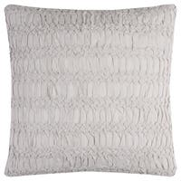 Rizzy Home Technique Off-white Cotton 20-inch Square Textured Throw Pillow