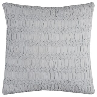 Rizzy Home Blue Cotton 20-inch x 20-inch Technique textured Decorative filled Throw Pillow