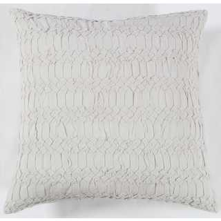 Rizzy Home Grey Cotton Textured Square Decorative Throw Pillow