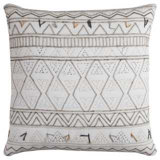 Rizzy Home Tribal Globe Traveler Cotton 22 x 22 Throw Pillow