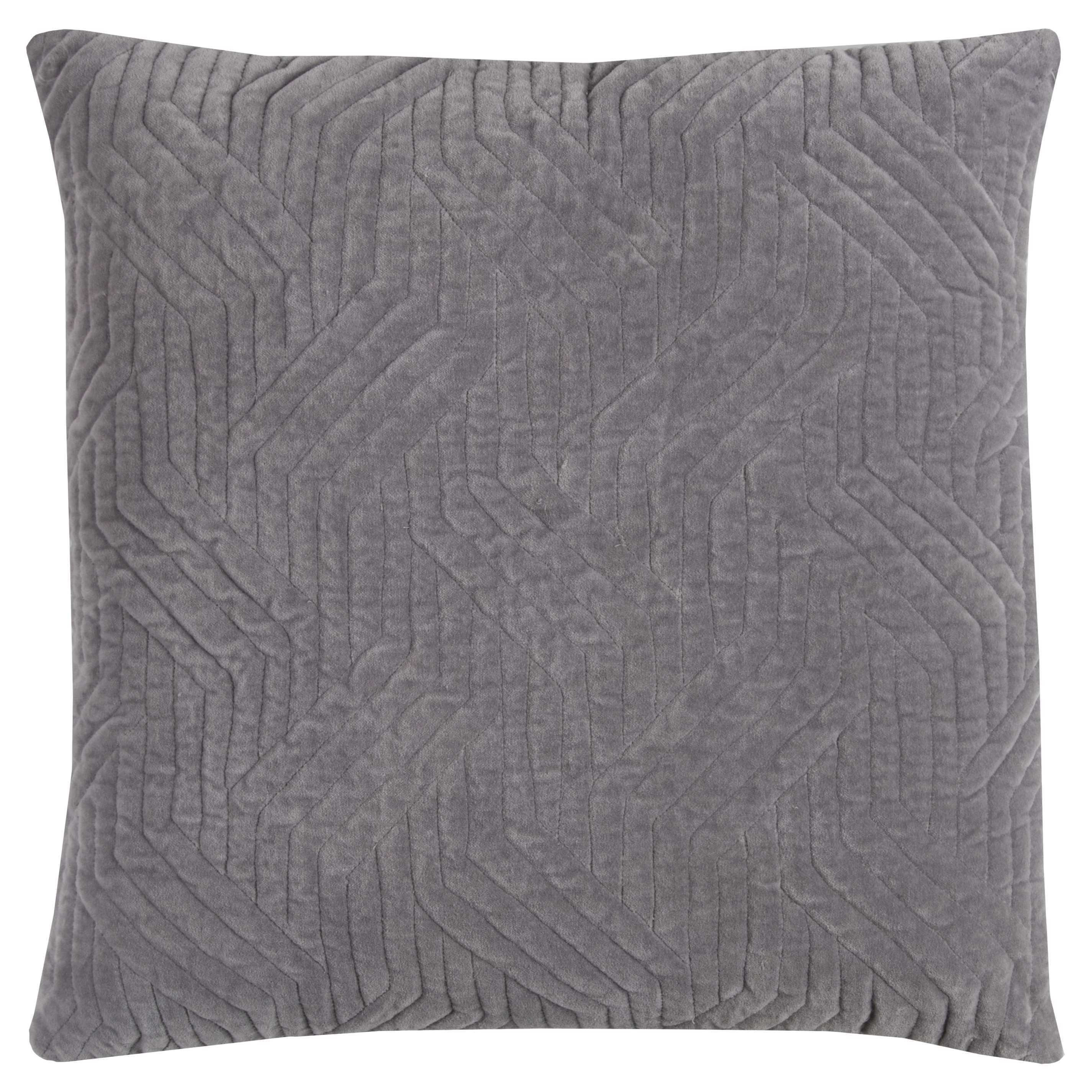 Rizzy Home Grey Cotton 20-inch x 20-inch Textural Crosshatching Decorative Filled Throw Pillow (20 x 20 Grey TEXTURAL CROSSHATCHING)