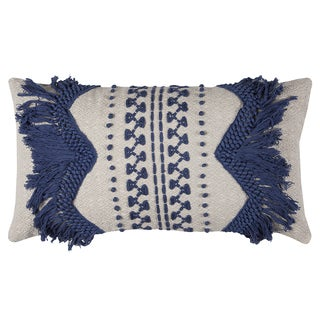 Rizzy Home Zig-zag Stripe 14-inch x 26-inch Cotton Throw Pillow