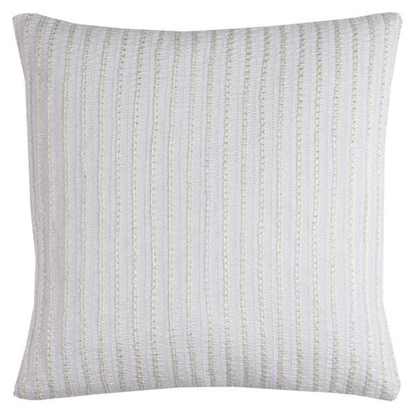 Rizzy Home Cotton 20-inch x 20-inch Striped Dcorative Filled Throw Pillow