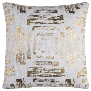 Rizzy Home Textured Foil Print 20-inch Cotton Throw Pillow