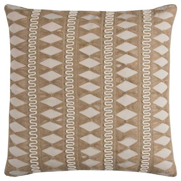 Rizzy Home Jute Pulled Chord Shows As a Stripe Cotton Decorative Throw Pillow