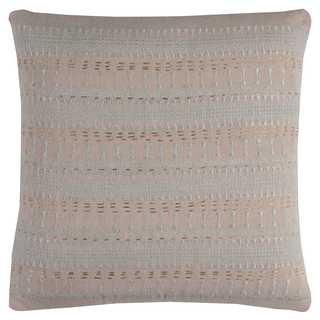 Rizzy Home Pink Stripe Textured Cotton Decorative Throw Pillow