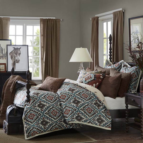 Madison Park Signature Sedona Brown Chenille Jacquard Comforter Set