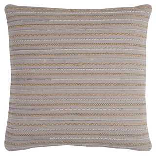 Rizzy Home Stripe Textured Pink Cotton 20-inch x 20-inch Decorative Filled Throw Pillow