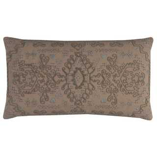 Rizzy Home Center Medallion Cotton 11-inch x 21-inch Throw Pillow
