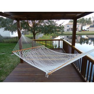 Castaway White Cotton Rope Hammock