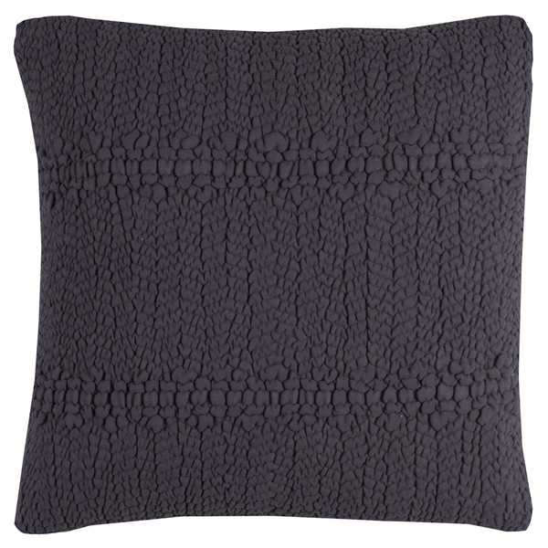 Rizzy Home Sheared Texture Navy Blue Cotton 20-inch Decorative Filled Throw Pillow