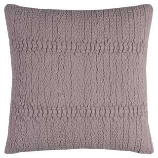 Rizzy Home Sheered Texture Pink Cotton 20-inch Square Throw Pillow