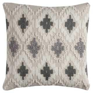 Rizzy Home Diamonds Textural Cotton 20-inch x 20-inch Decorative Filled Throw Pillow