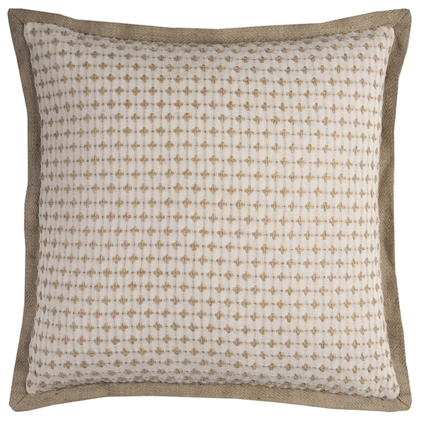 Rizzy Home Striped Jute Cotton 22-inch Square Throw Pillow