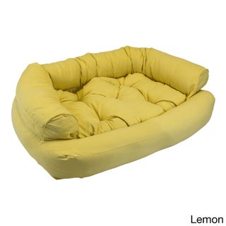 Snoozer Overstuffed Solid Luxury Microsede Pet Sofa (More options available)