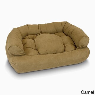Snoozer Overstuffed Solid Microsede Luxury Pet Sofa