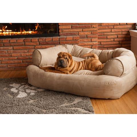 Snoozer Overstuffed Solid Luxury Microsede Pet Sofa