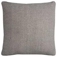 Rizzy Home Stripe Ivory Cotton 22-inch Square Throw Pillow
