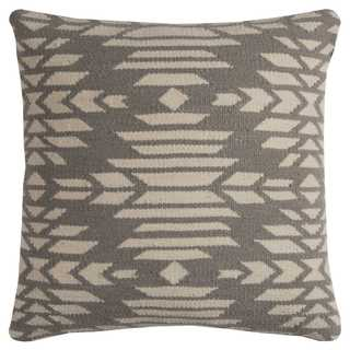 Rizzy Home Multicolored Cotton/Wool Southweastern Decorative Throw Pillow