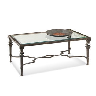 Neo Classical Bronze finish Lido Rectangle Coffee Table