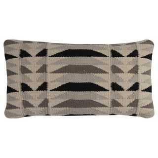 Rizzy Home Off-white Wool/Cotton Diamond Motif Decorative Throw Pillow