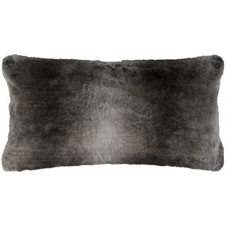 Rizzy Home Solid Tan Faux Fur Decorative Throw Pillow
