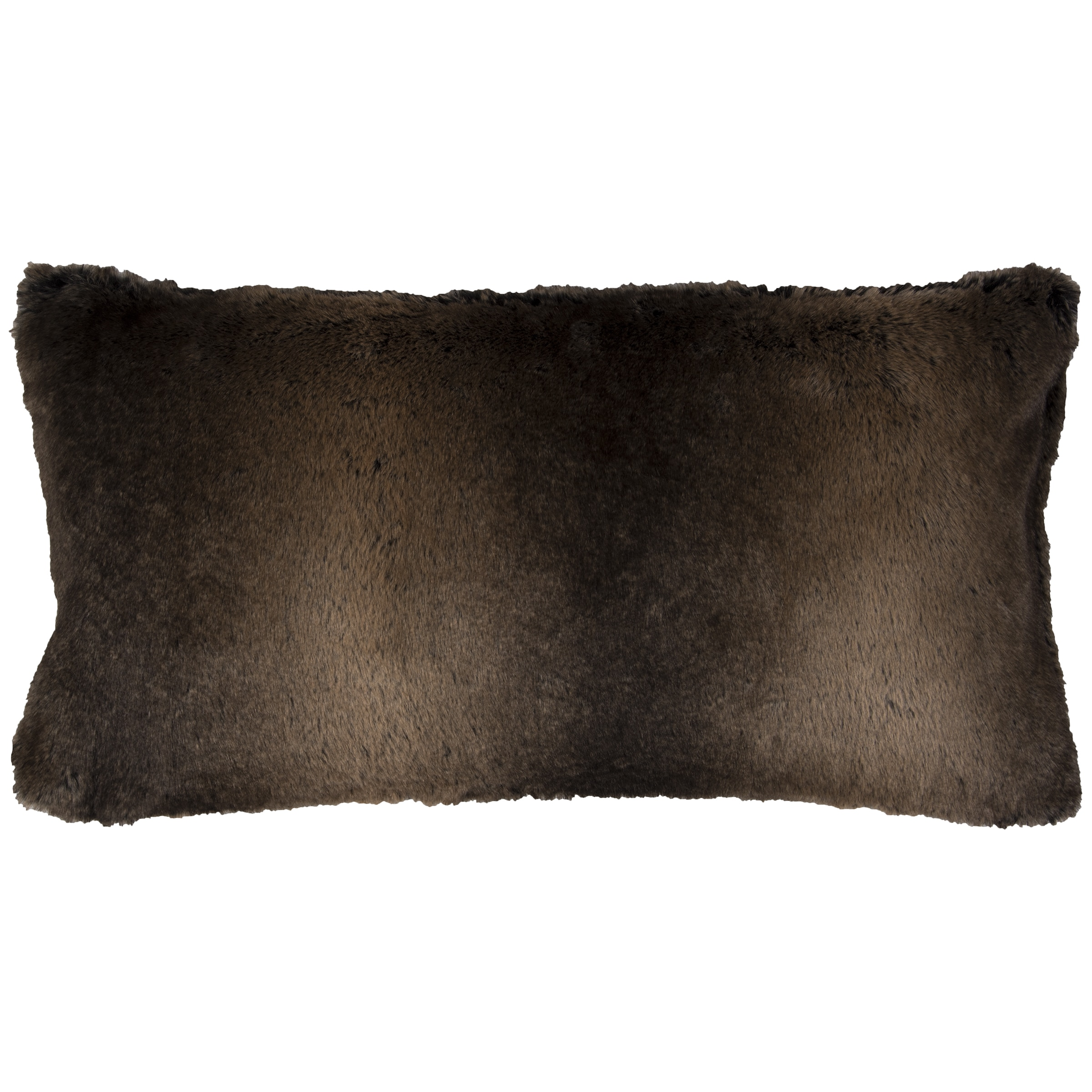 Picture of: Shop Rizzy Home Solid Brown Faux Fur Decorative Throw Pillow Overstock 14310025