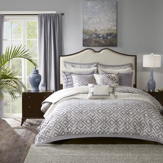 Madison Park Signature Stein Grey Jacquard Comforter Set