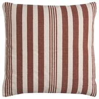 Rizzy Home Vertical Stripe Heavy Cotton Canvas Decorative Throw Pillow