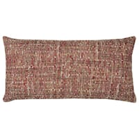 Rizzy Home All Over Threaded Pattern Red/ Brown Cotton Decorative Throw Pillow