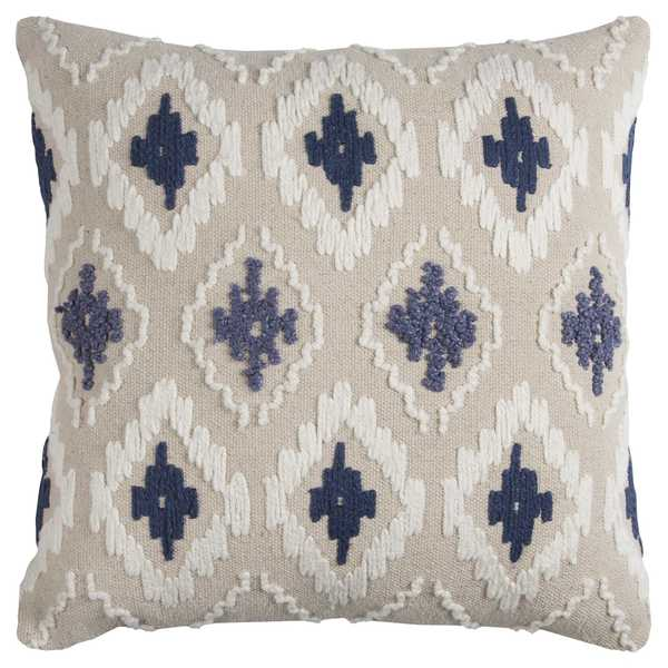 Shop Rizzy Home Off White Blue Diamond Cotton Canvas