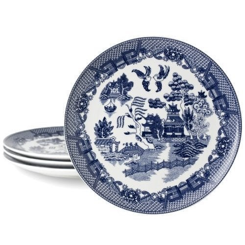 Blue Willow Dinner Plate (Set of 4) (Blue) (Porcelain, So...