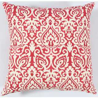 Rizzy Home Damask Cotton Buralp Decorative Throw Pillow