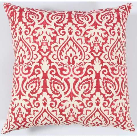 Rizzy Home Damask Cotton Buralp Decorative Throw Pillow