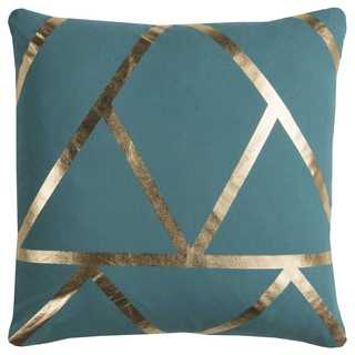 Rachel Kate by Rizzy Home Green Geometric Cotton Casement Decorative Throw Pillow