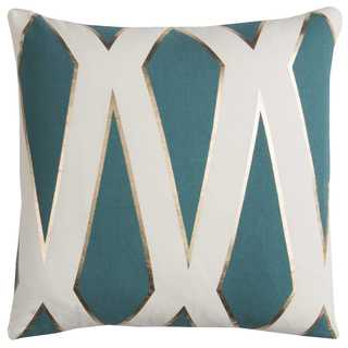 Rachel Kate by Rizzy Home 20-inch Green Geometric Cotton Casement Decorative Throw Pillow