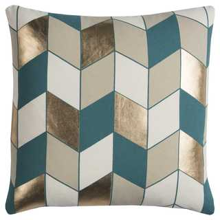 Rachel Kate by Rizzy Home Grey Geometric Cotton Casement Decorative Throw Pillow